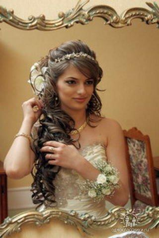 свадебные прически дагестанских звезд
